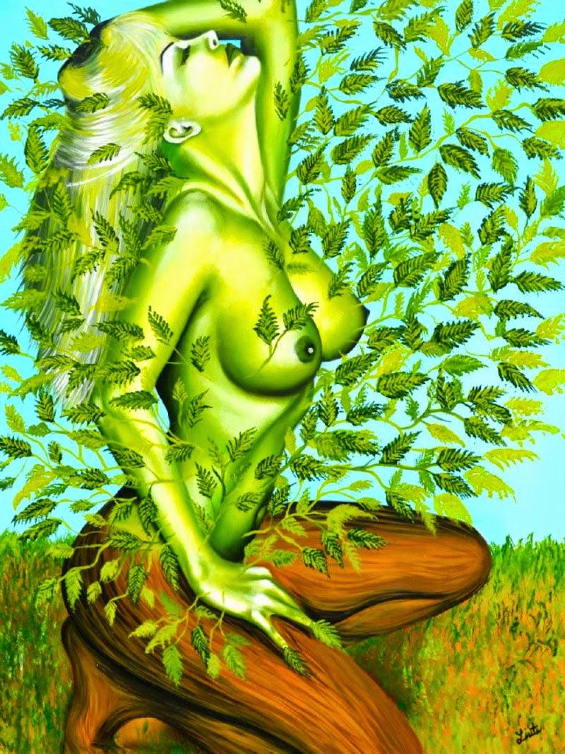 Ligação Sensual -  Pinturas de Lisete Alcalde | O pintor que toca o coração