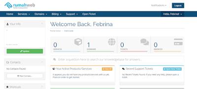 client area rumah web