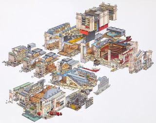 ilustración de estructura altamente detallada
