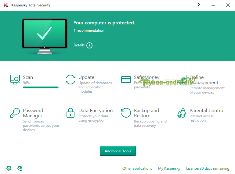 When creating a backup task in Kaspersky Total Security, you can select the online storage option to store backup copies on a remote server using the Dropbox service. To activate an online storage, you must sign in to Dropbox or create an account via the application interface or from the service authorization page.