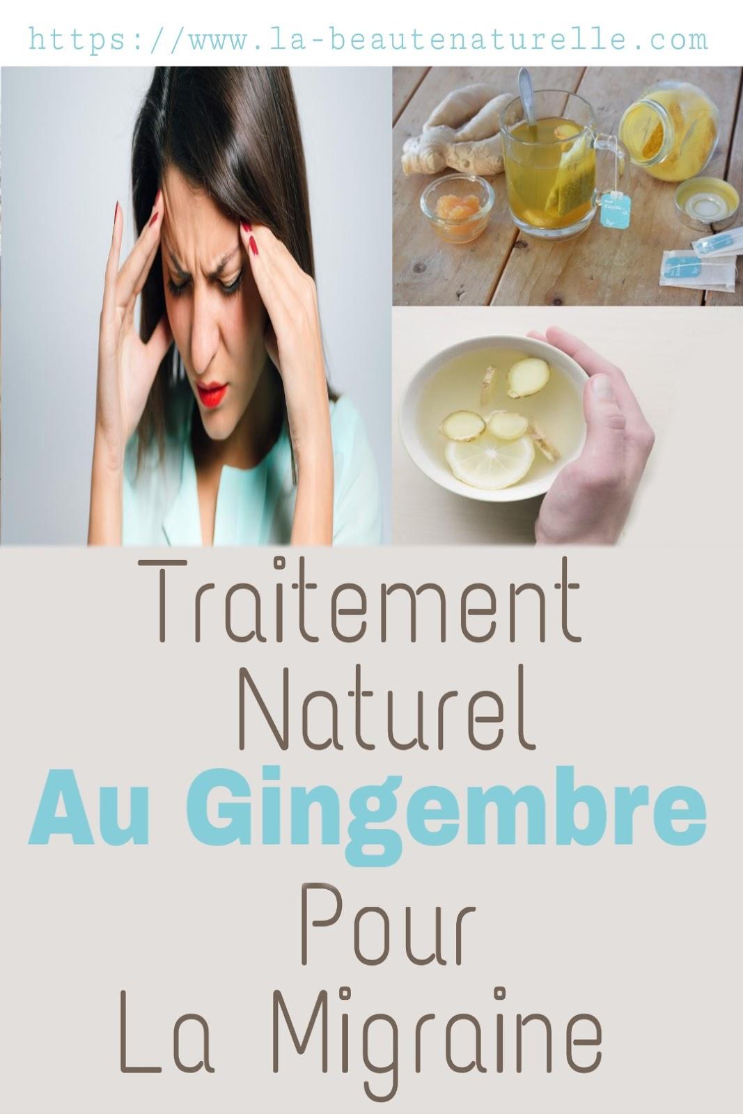 Traitement Naturel Au Gingembre Pour La Migraine