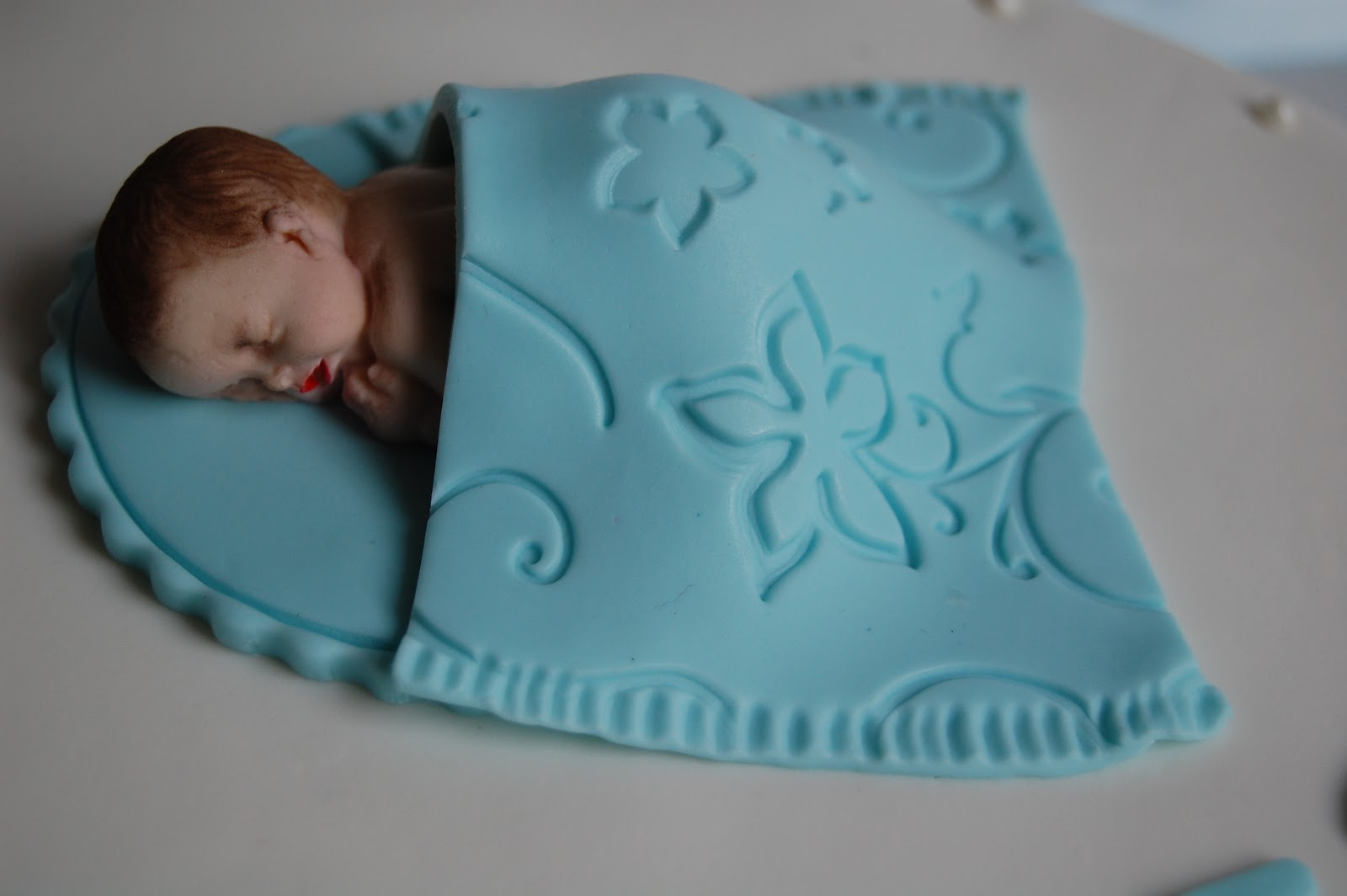 Customised Cakes By Jen White And Blue Baby Boy