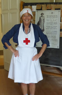 dressed up as a nurse