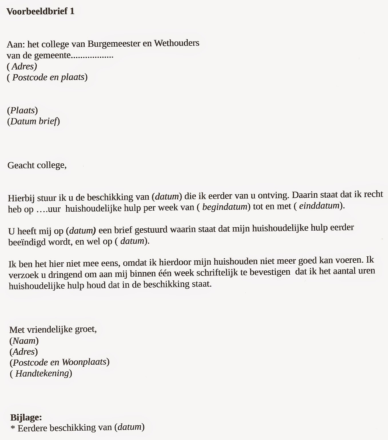 voorbeeldbrief rechtbank Wmohulp: november 2014 voorbeeldbrief rechtbank