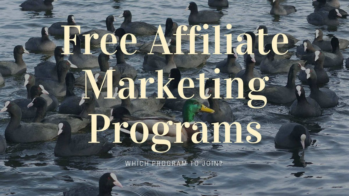 Free Affiliate Marketing Programs