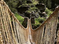 The Inca Tribal Grass Bridge is as strong as Steel