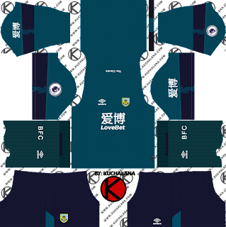 Burnley FC 2019/2020 third Kit - Dream League Soccer Kits