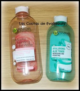 Agua micelar con agua de rosas y Tónico ácido hialurónico de Garnier terminados #productosterminados #terminados #empties