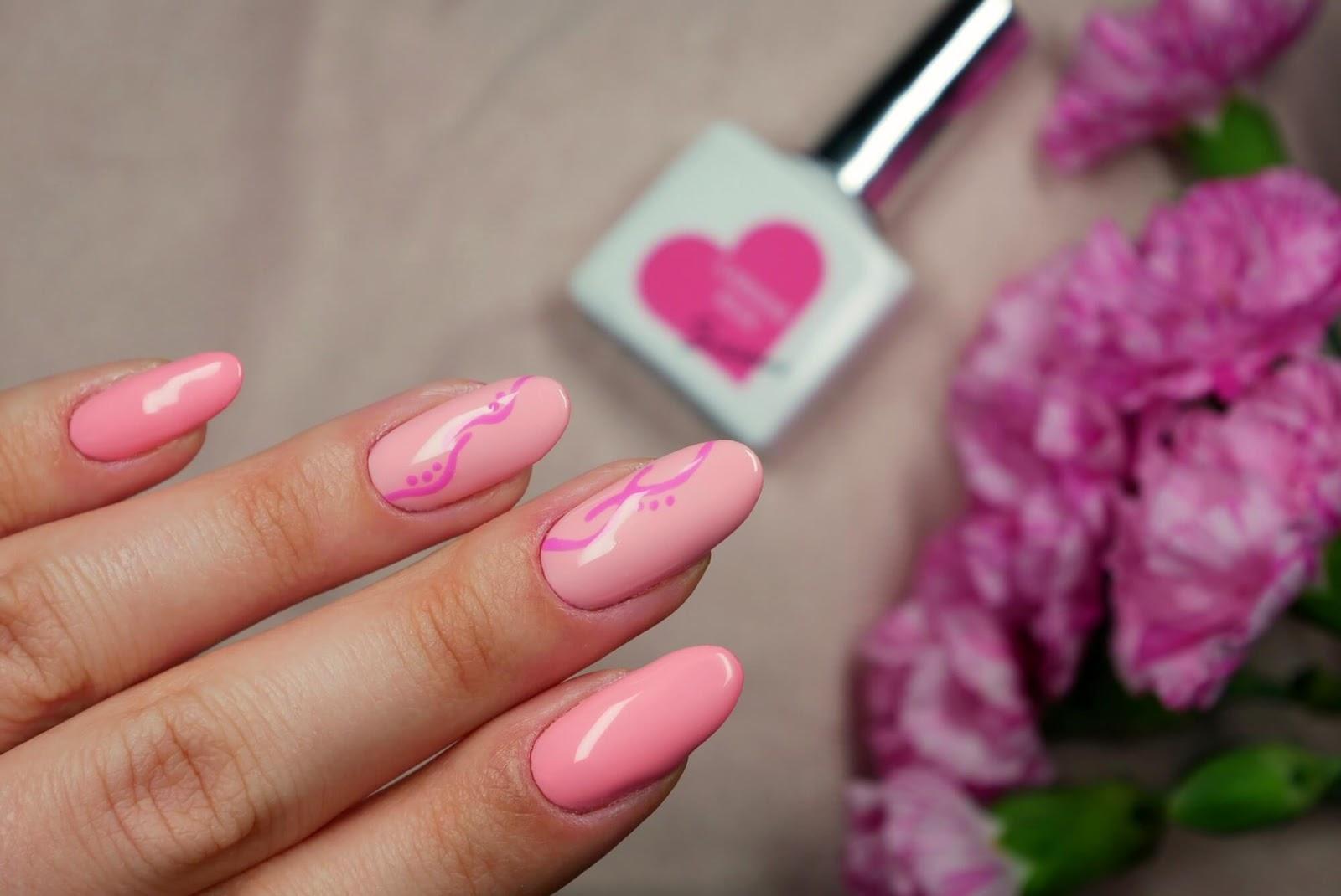 paznokcie hybrydowe - róż