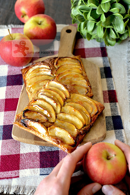 quick easy fuss free apple frangipane puff pastry tart
