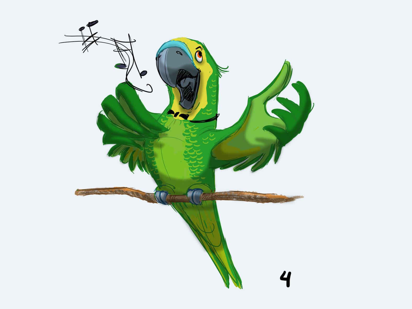 рисунки попугаев смешные русский