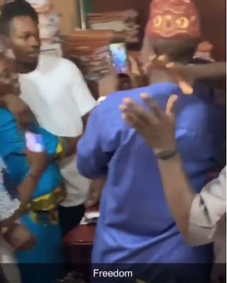 Naira Marley Is Finally Out Of Prison As He Hugs His Mother Emotionally (VIDEO)