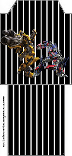Bolsita de Té para imprimir gratis de Transformers.
