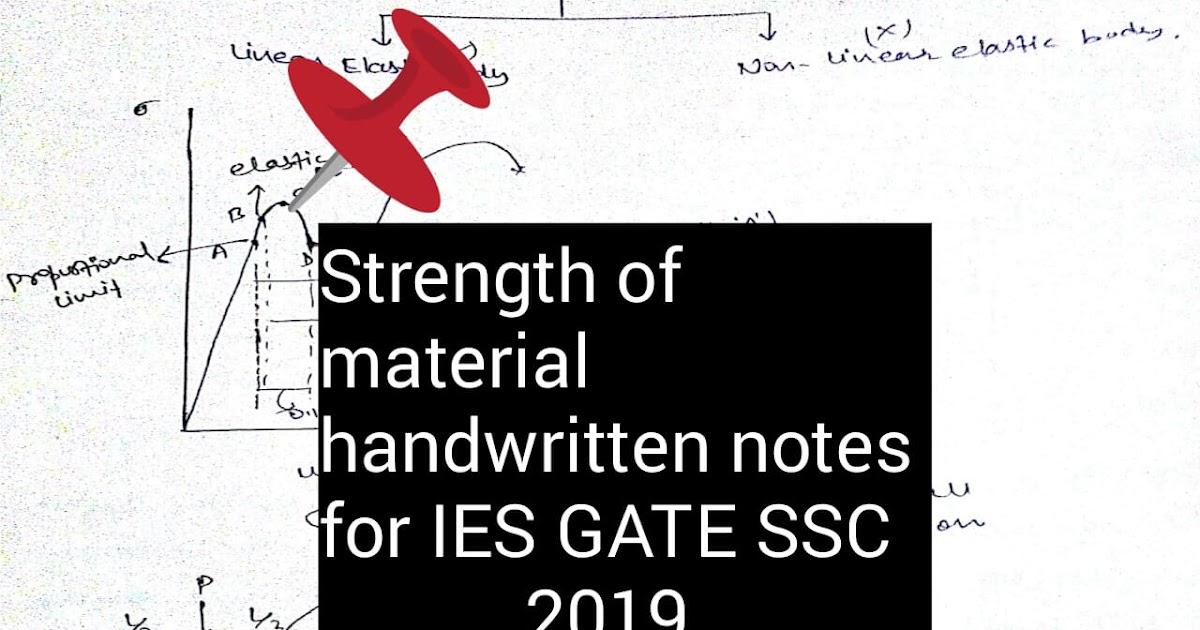 strength of materials handwritten notes