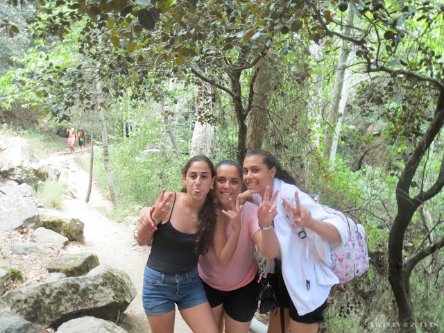 Cyprus Troodos, happy girls from Israel hiking