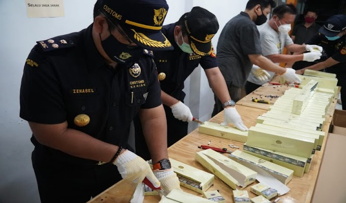 Kanwil DJBC Banten bersama KPPBC TMP A Tangerang Melakukan Pemusnahan BKC dalam Rangka Pengembalian Cukai