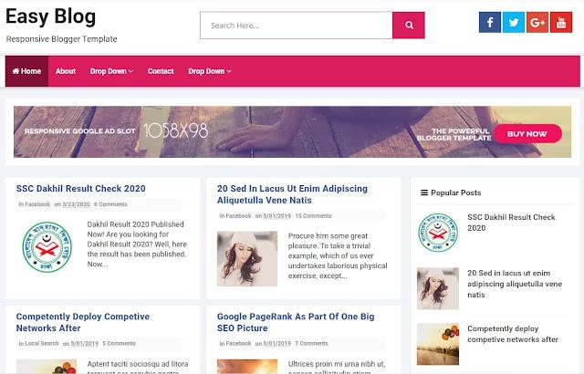 Easy Blog Responsive Blogger Template