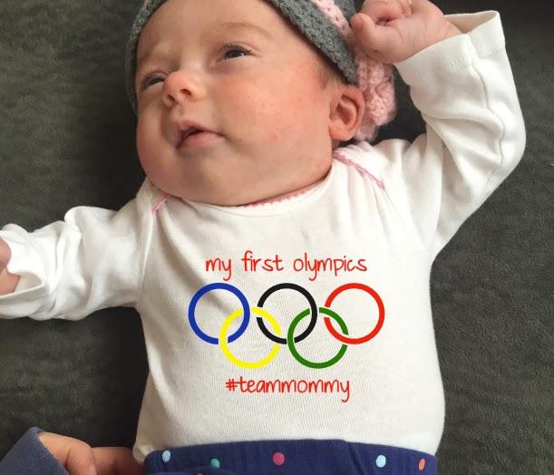 Team USA Team mommy olympics 2016 Rio Silhouette CAMEO baby onesie