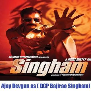 Ajay Devgan as (DCP Bajirao Singham) in Sooryanvanshi