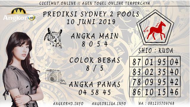 PREDIKSI SYDNEY 2 POOLS 10 JUNI 2019