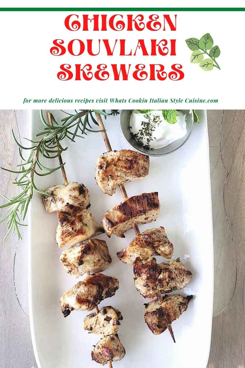 how to make grilled chicken Greek style pin for later
