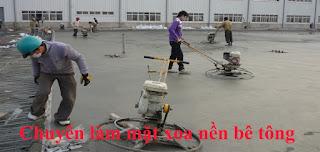 Chuyên làm mặt xoa nền bê tông