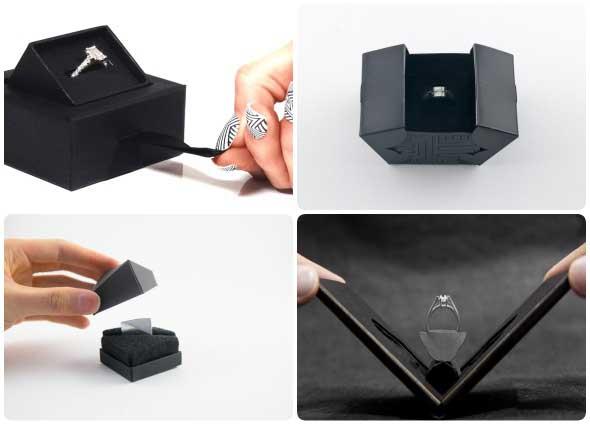 cajas, anillos, sortijas, embalaje, plantillas, origami