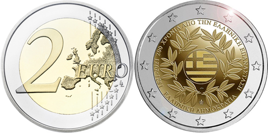 Greece 2 euro 2021 - 200th anniversary of the Greek Revolution