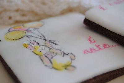 biscotti dipinti pensati per festeggiare una nascita bimba