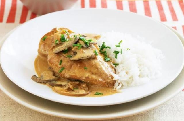 Chicken Stroganoff #dinner #chicken