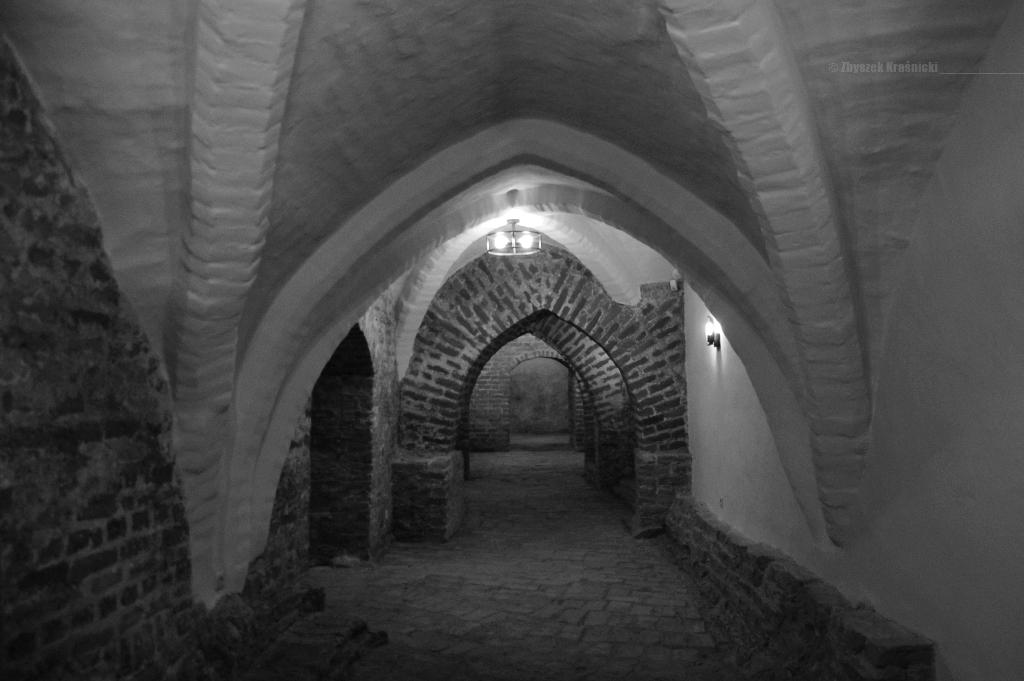 Zamek w Lidzbarku Warmińskim, piwnice i sklepienia