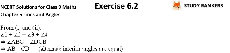 NCERT Solutions for Class 9 Maths Chapter 6 Lines and Angles Exercise 6.2 Part 5