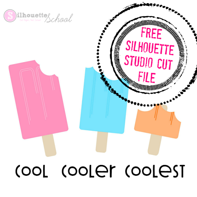 free summer cool popsicle silhouette design file