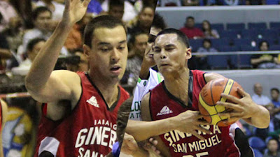 Greg Slaughter and Japeth Aguilar