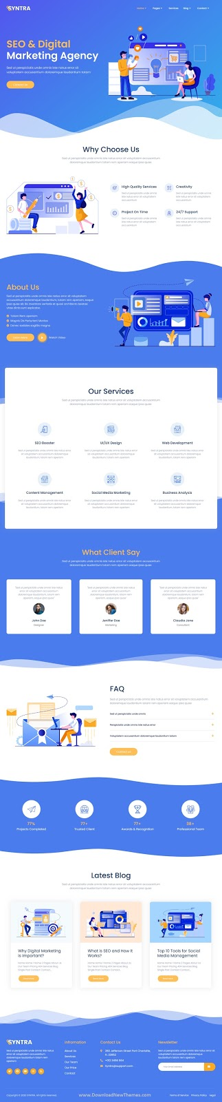 SEO & Digital Marketing Agency Template Kit