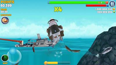 cara mendapatkan hiu di hungry shark