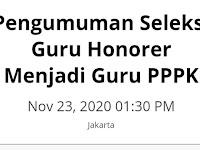 Pengumuman Seleksi Guru Honorer Menjadi Guru PPPK, Amin.