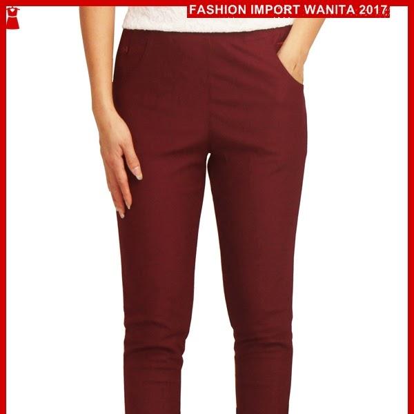 ADR147 Celana Merah Stretch Panjang Korea Import BMG