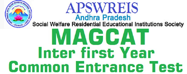 APSWREIS,Inter 1st Year,Entrance TestMAGACET