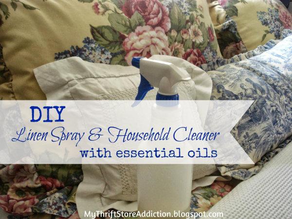 DIY Lavender Linen Spray and Lemongrass Household Cleaner Made with Essential Oils  mythriftstoreaddiction.blogspot.com