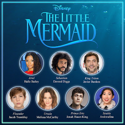 Full cast and logo for Disney's upcoming live-action Little Mermaid movie