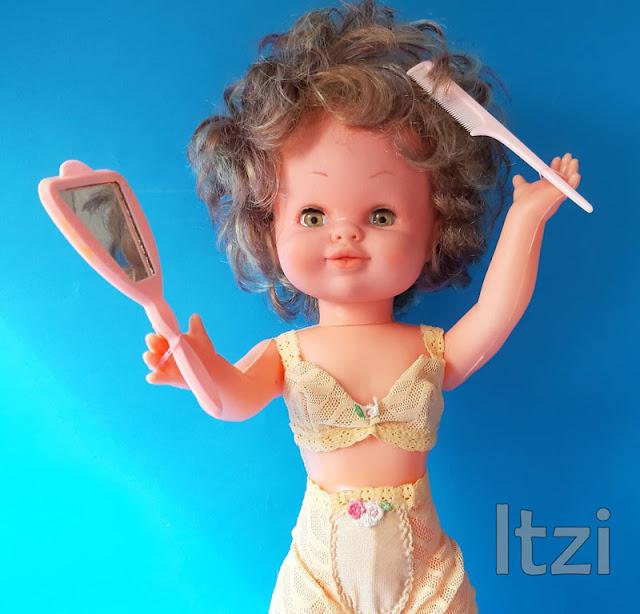 Muñeca Bambinela de Esvi, conjunto de lencería de la casa Fantasía para Nancy