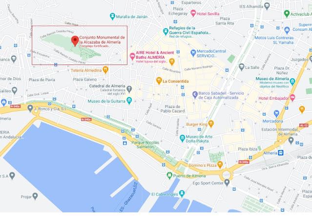 localización Alcazaba de Almería
