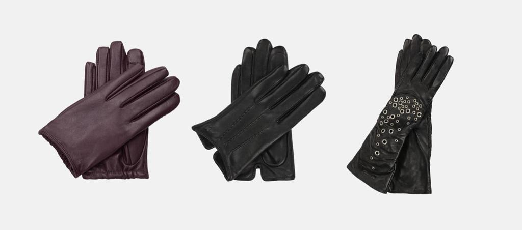 Rękawiczki dotykowe skórzane KAZAR
