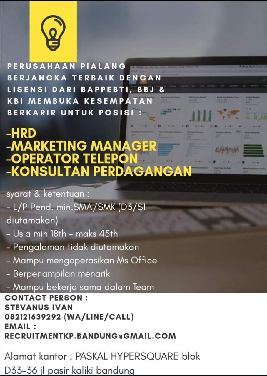 Lowongan Kerja PT. Kppress Indonesia Bandung September 2020