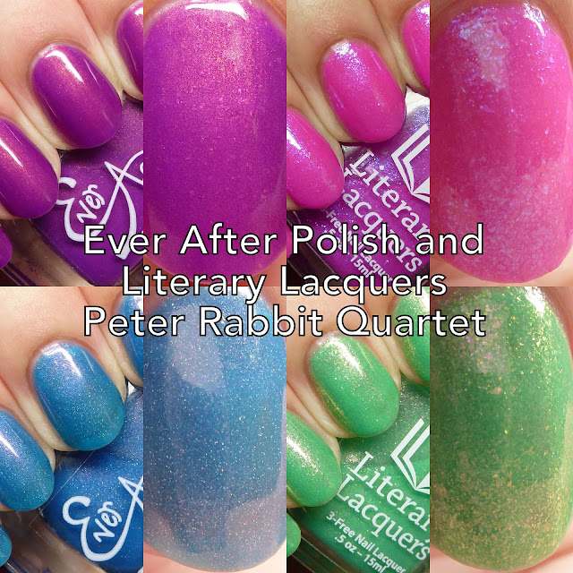 Ever After Polish and Literary Lacquers Peter Rabbit Quartet