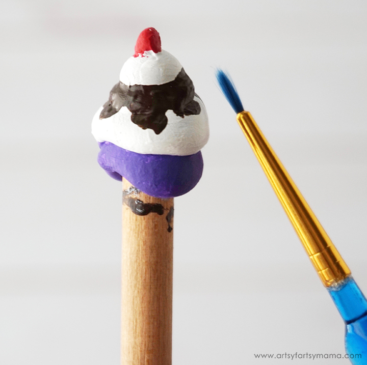 DIY Ice Cream Sundae Pencil Toppers