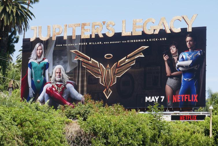 Jupiters Legacy Netflix series billboard