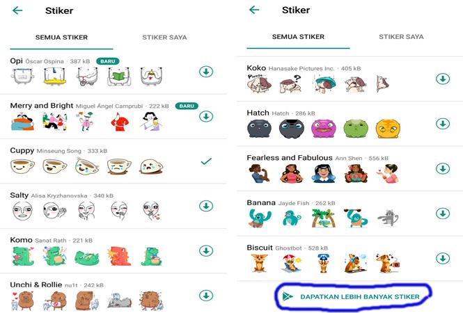 Cara membuat stiker di Whatsapp - Get more stickers