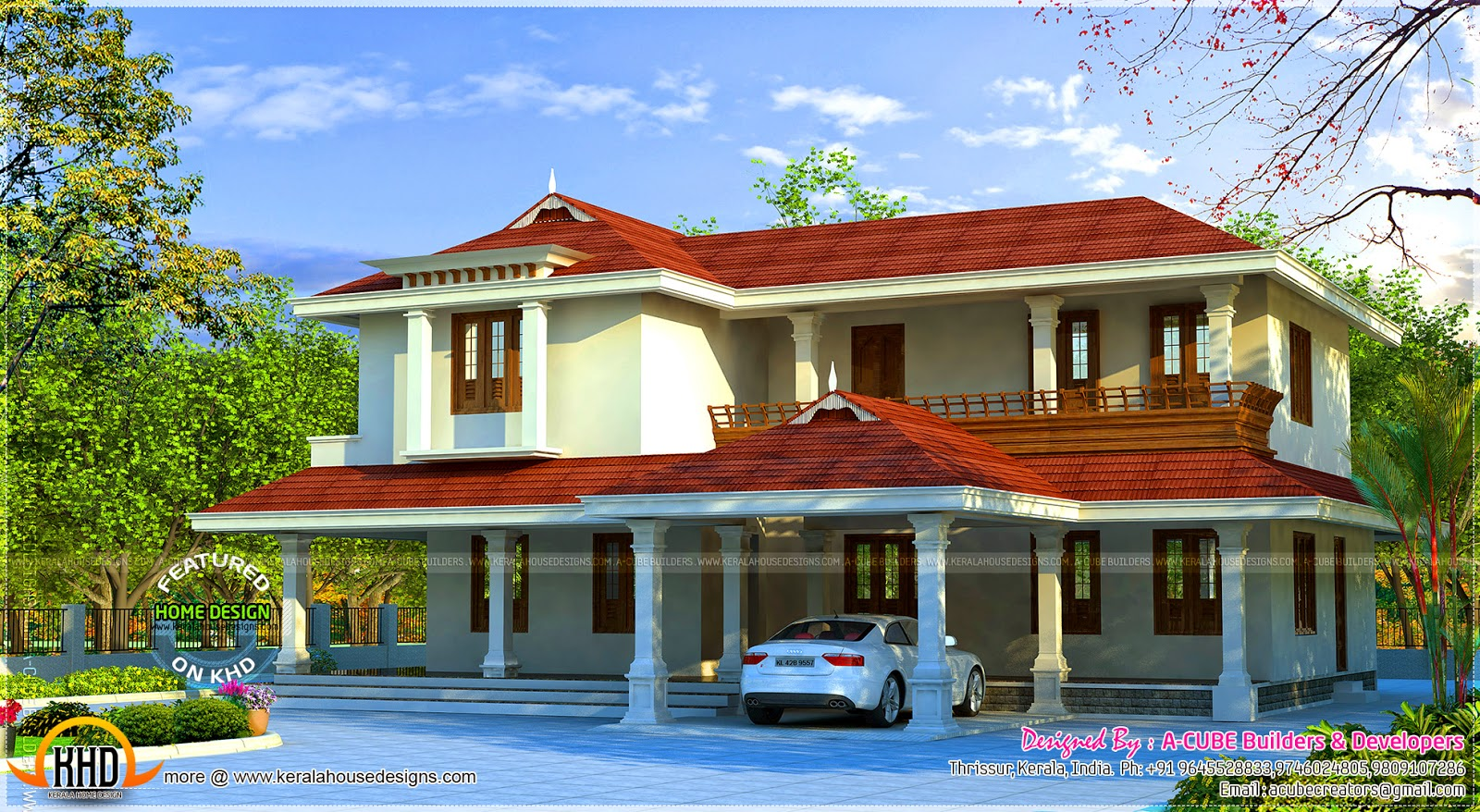 298 Square Meter Beautiful Villa Kerala Home Design And